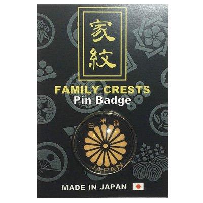 20mmガラスピンバッジ・家紋/懸り乱れ龍(軍旗)