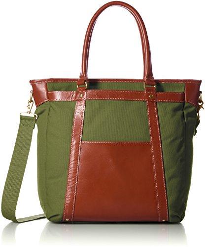 [キワダ] 【木和田】本革帆布コンビビジネストートバッグ 鞄の聖地、兵庫県豊岡市製。B4サイズ対応、ショルダーとの2WAY仕様。 5011 53 カ…