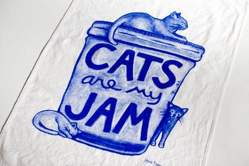 ティータオル Cats are my Jam