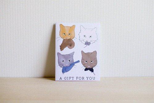 Cat Present Postcard