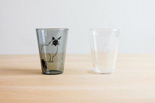 耐熱グラス ホワイト/グレー