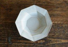 八角スパイラル皿(ライトグレー)