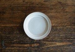 ドットリム皿Sサイズ(ライトグレー)