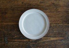 ドットリム皿Mサイズ(ライトグレー)