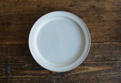 ドットリム皿Lサイズ(ライトグレー)