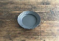 リースリム 葉皿(黒マット)