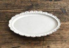 カメオオーバル皿(ライトグレー)