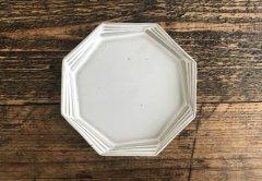 多層八角皿(ライトグレー)
