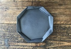 多層八角皿(黒マット)