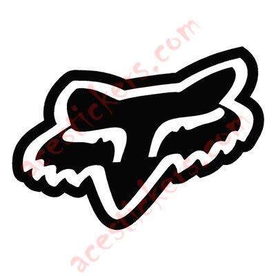fox racing logo head alternate stickers 10 x 7 2 cm rh acestickers com