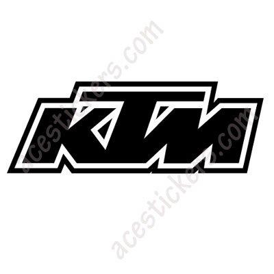 Ktm logo 008 stickers 12 x 4 2 cm ステッカー、カッティングステッカー
