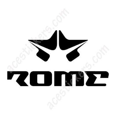 ROME SDS Snowboard STICKER Decal NEW BLACK Circ