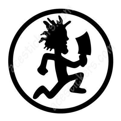 insane clown posse icp hatchet man stickers 12 x 12 cm