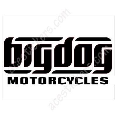 Big dog motorcycles logo stickers 15 x 6 5 cm ステッカー、カッティングステッカ
