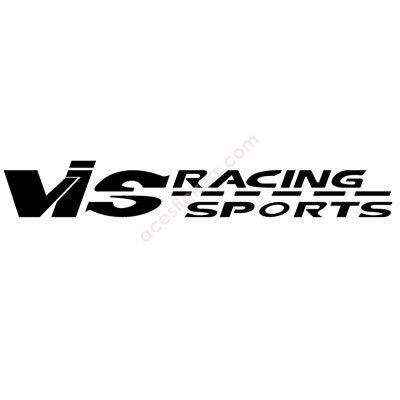 vis racing sports logo stickers 25 x 3 6 cm ステッカー