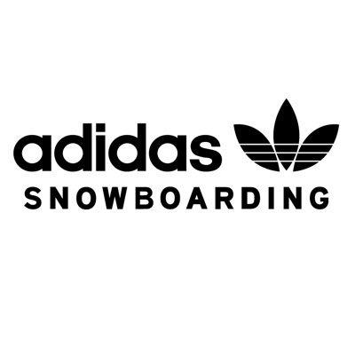 Adidas snowboard logo stickers 25 x 8 5 cm ステッカー、カッティングステッカ