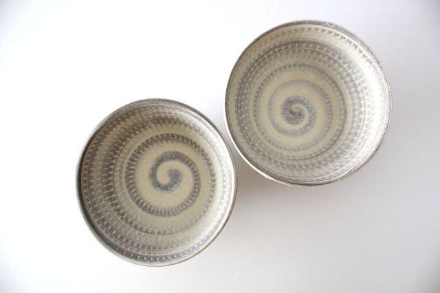 飯碗 うずまきマット 陶器 翁明窯元 小石原焼 画像2