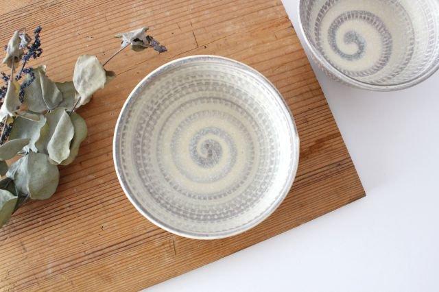 飯碗 うずまきマット 陶器 翁明窯元 小石原焼 画像3