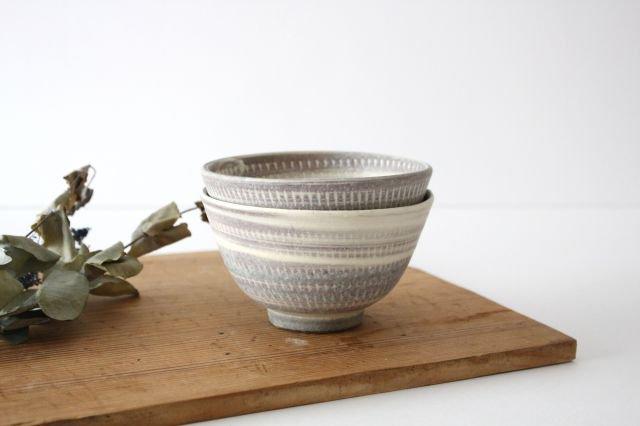 飯碗 うずまきマット 陶器 翁明窯元 小石原焼 画像5