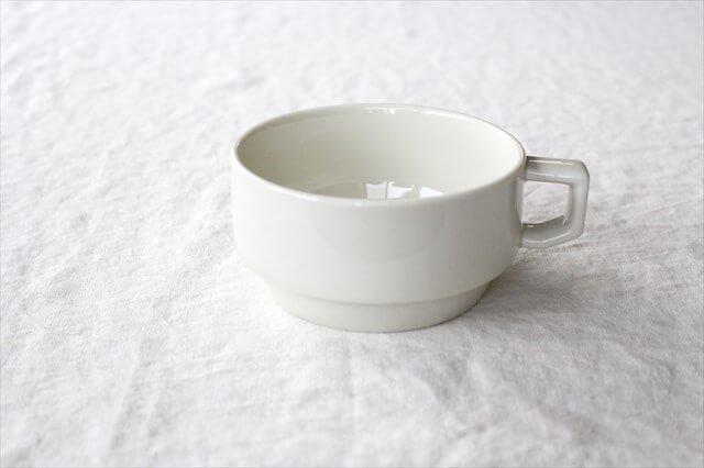 波佐見焼 HASAMI SEASON 01 ブロックマグ・スープ ホワイト 磁器 画像2