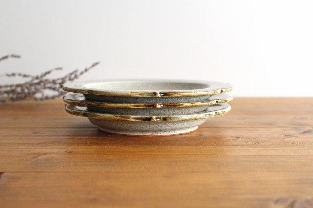6寸輪花皿 墨入貫入 陶器 はなクラフト 画像2