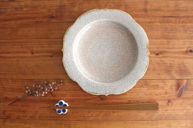 6寸輪花皿 墨入貫入 陶器 はなクラフト 画像3