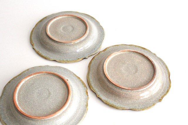 6寸輪花皿 墨入貫入 陶器 はなクラフト 画像4