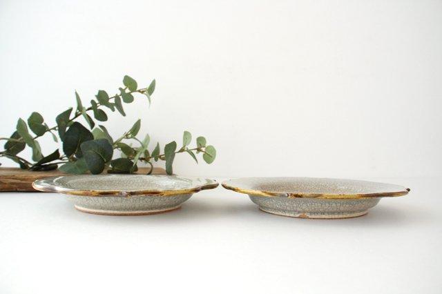6寸輪花皿 墨入貫入 陶器 はなクラフト 画像5