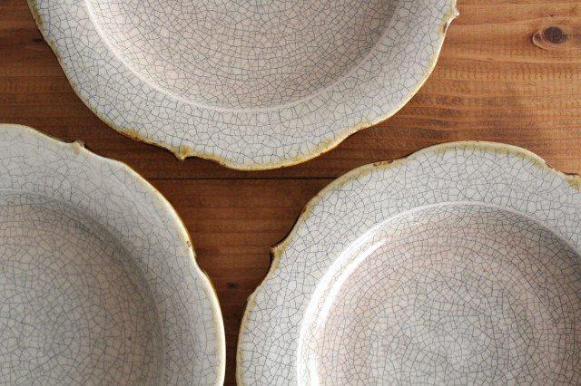 6寸輪花皿 墨入貫入 陶器 はなクラフト 画像6