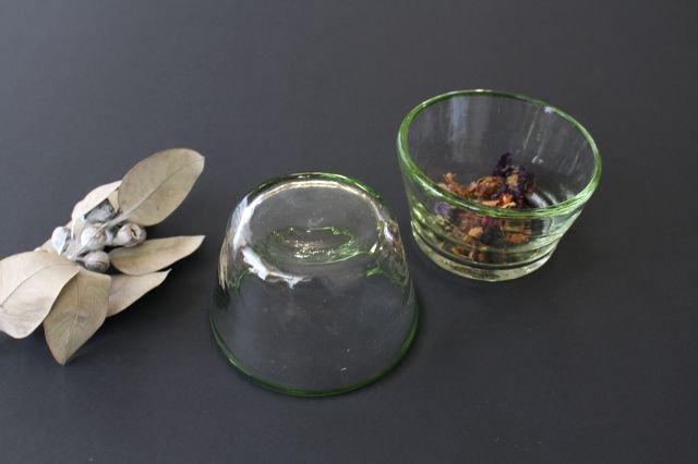 小鉢 モールあり 緑 ガラス 奥原硝子製造所 画像6