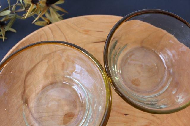 小鉢 モールあり 茶色 ガラス 奥原硝子製造所 画像3