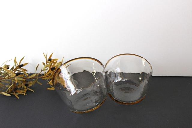 小鉢 モールあり 茶色 ガラス 奥原硝子製造所 画像5