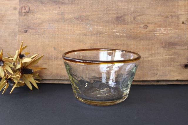 小鉢 モールあり 茶色 ガラス 奥原硝子製造所 画像6