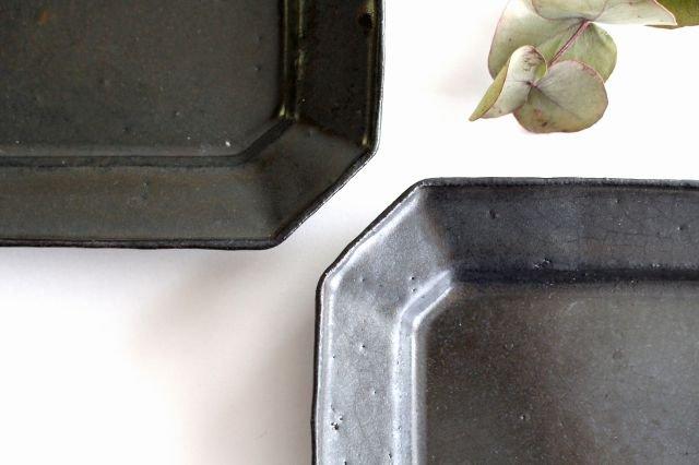 ブロンズ 八角皿 S 陶器 レジーナ 画像3