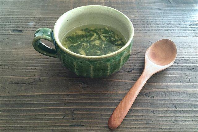 スープカップ 面取り 緑釉 陶器 もりたうつわ製作所 画像6