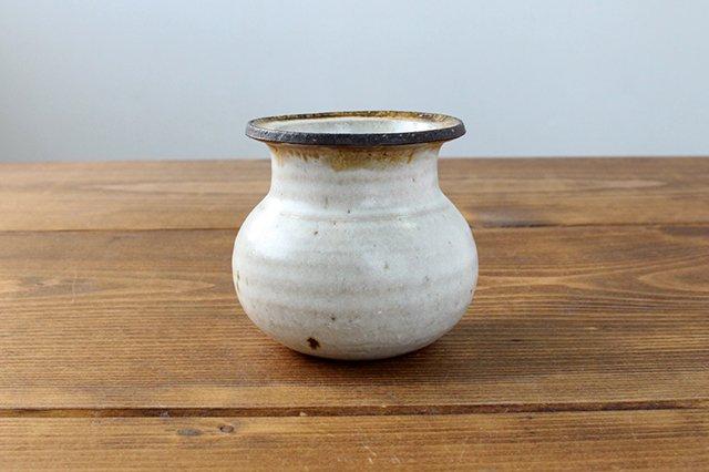 花器 白 信楽焼 陶器 藤原純