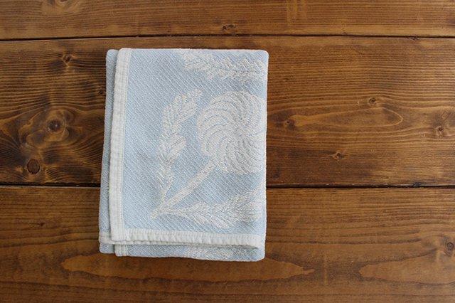 LAPUAN KANKURIT(ラプアン カンクリ)× 鹿児島睦  コットンブランケット white-blue 65×90cm