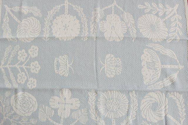 LAPUAN KANKURIT(ラプアン カンクリ)× 鹿児島睦  コットンブランケット white-blue 65×90cm 画像2