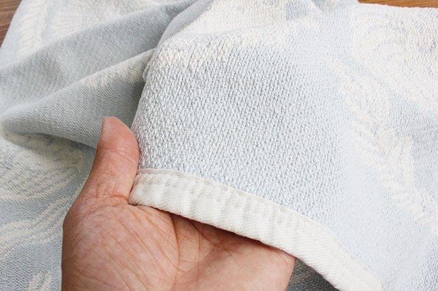 LAPUAN KANKURIT(ラプアン カンクリ)× 鹿児島睦  コットンブランケット white-blue 65×90cm 画像4