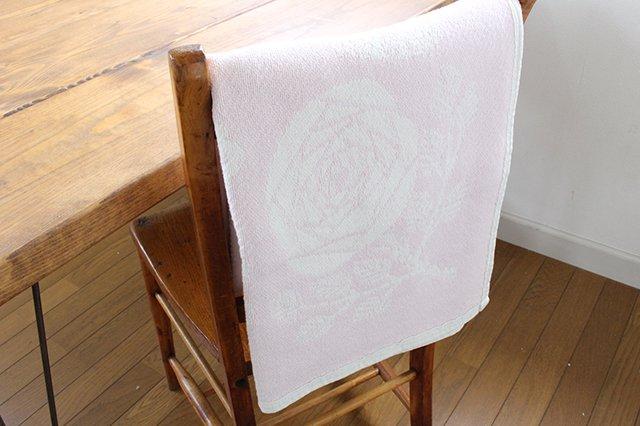 LAPUAN KANKURIT(ラプアン カンクリ)× 鹿児島睦  コットンブランケット white-rosa 90×140cm