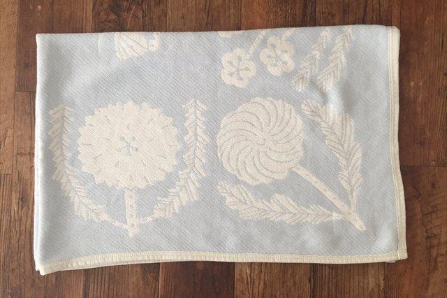 LAPUAN KANKURIT(ラプアン カンクリ)× 鹿児島睦  コットンブランケット white-blue 90×140cm 画像2