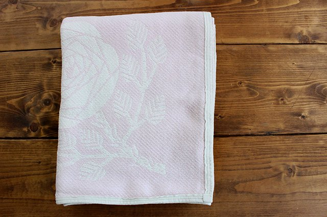 LAPUAN KANKURIT(ラプアン カンクリ)× 鹿児島睦  コットンブランケット white-rosa 140×180cm