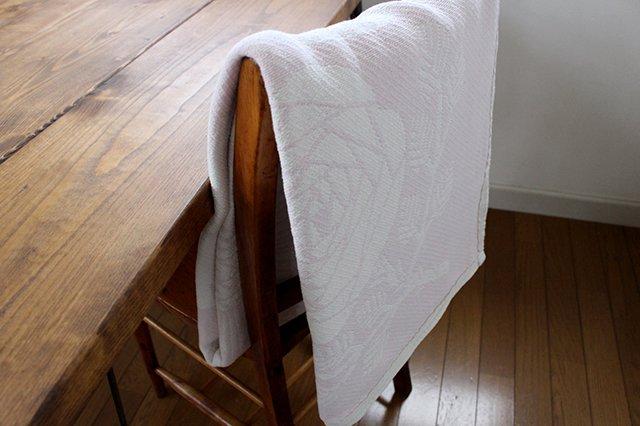 LAPUAN KANKURIT(ラプアン カンクリ)× 鹿児島睦  コットンブランケット white-rosa 140×180cm 画像5