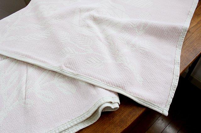 LAPUAN KANKURIT(ラプアン カンクリ)× 鹿児島睦  コットンブランケット white-rosa 140×180cm 画像6