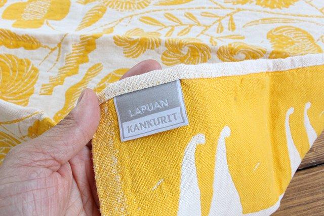 LAPUAN KANKURIT(ラプアン カンクリ)× 鹿児島睦  キッチンタオル  white-yellow 48×70cm 画像2