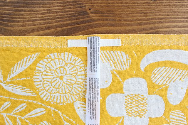 LAPUAN KANKURIT(ラプアン カンクリ)× 鹿児島睦  キッチンタオル  white-yellow 48×70cm 画像3