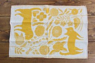 LAPUAN KANKURIT(ラプアン カンクリ)× 鹿児島睦  キッチンタオル  white-yellow 48×70cm商品画像