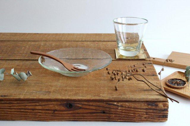 気泡皿 小 クリア ガラス ガラス工房 清天 画像4