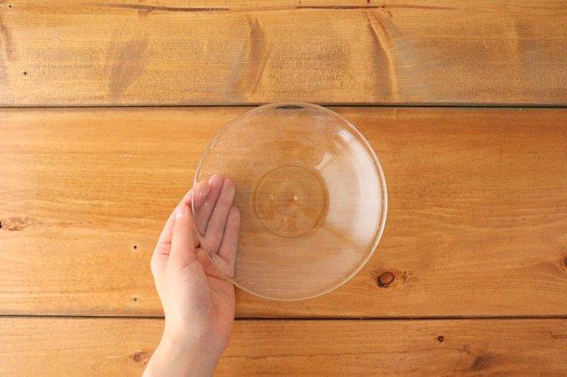 気泡皿 小 クリア ガラス ガラス工房 清天 画像5