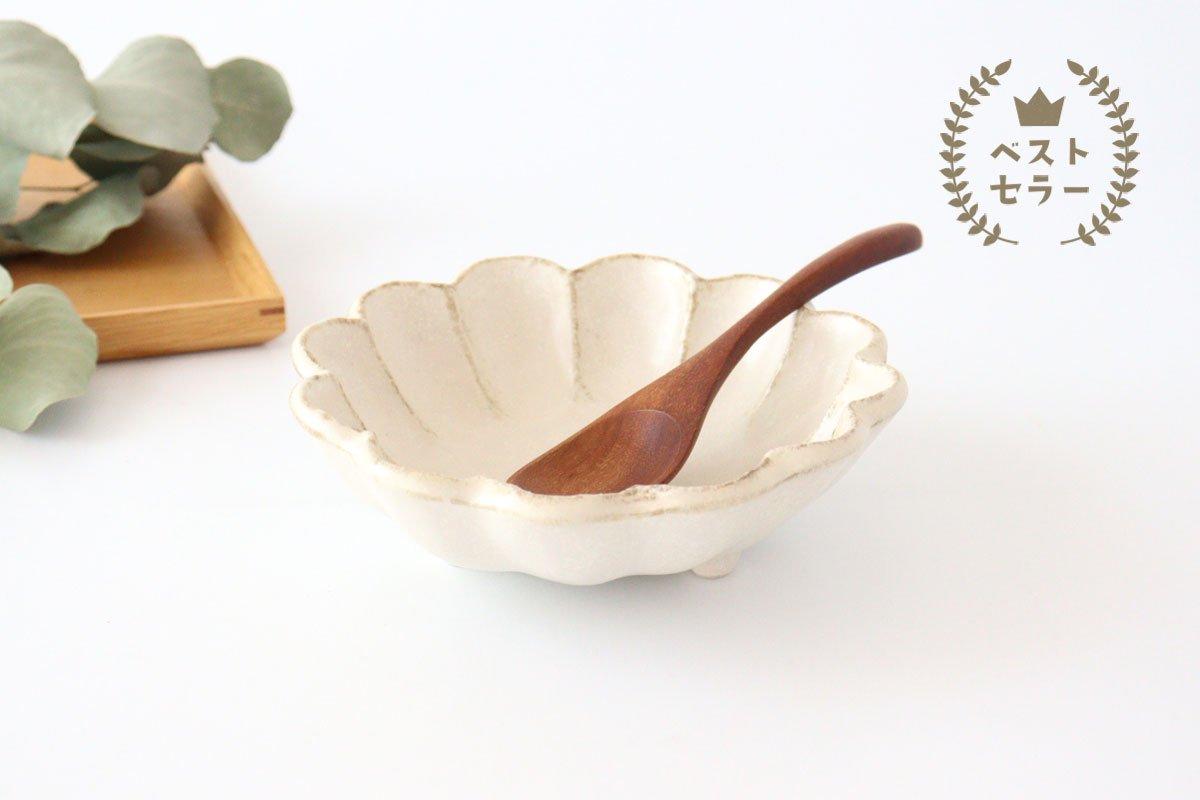 美濃焼 菊花 6寸鉢 白 磁器